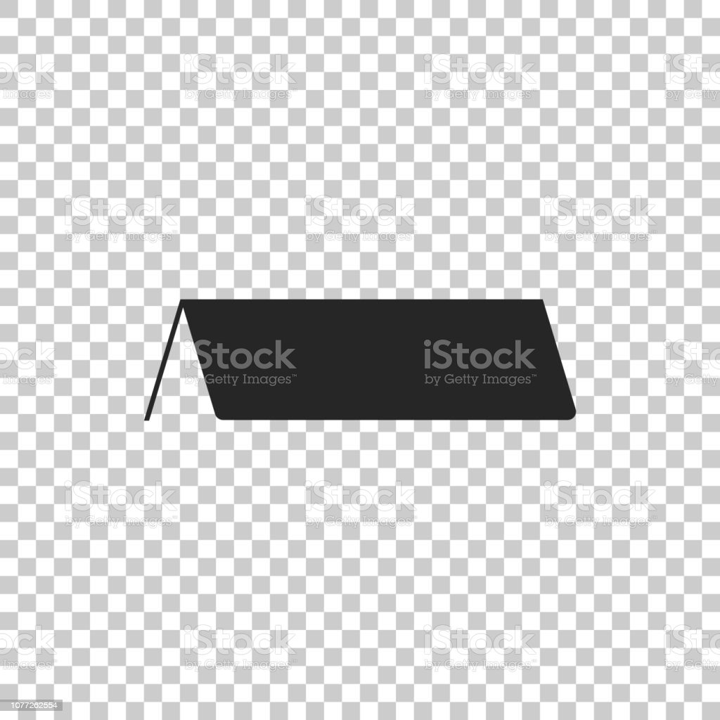 Blank Paper Table Card Icon Isolated On Transparent Background Tent