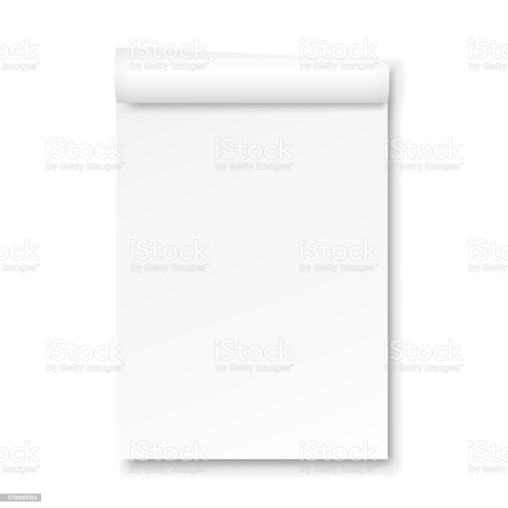 blank Paper tablet vector art illustration