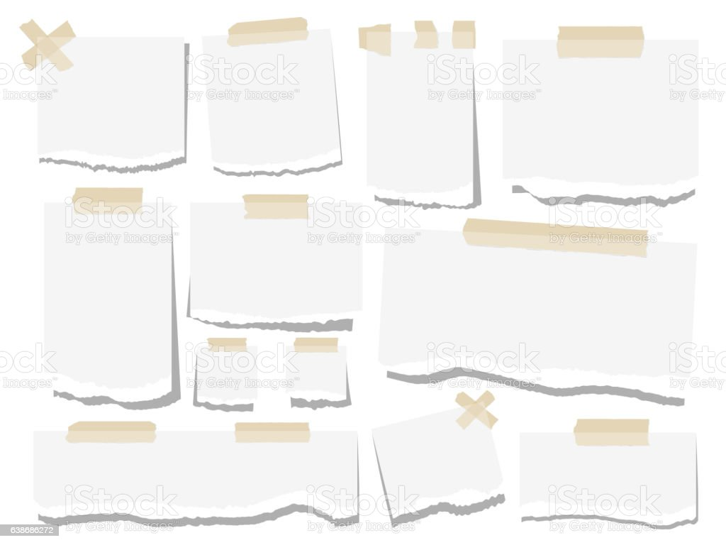 Blank Paper Torn Page Notes Stock Vector Art 638686272