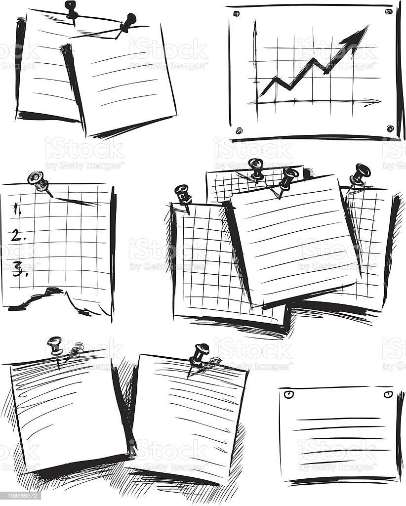 papel en blanco ilustracin de papel en blanco y ms banco de imgenes de chincheta libre