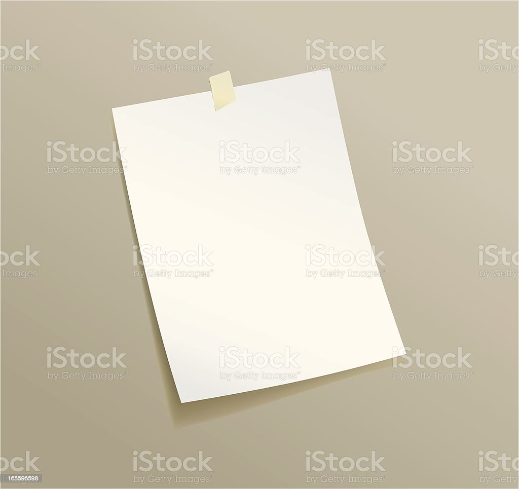 Blank Paper royalty-free blank paper stock vector art & more images of adhesive note