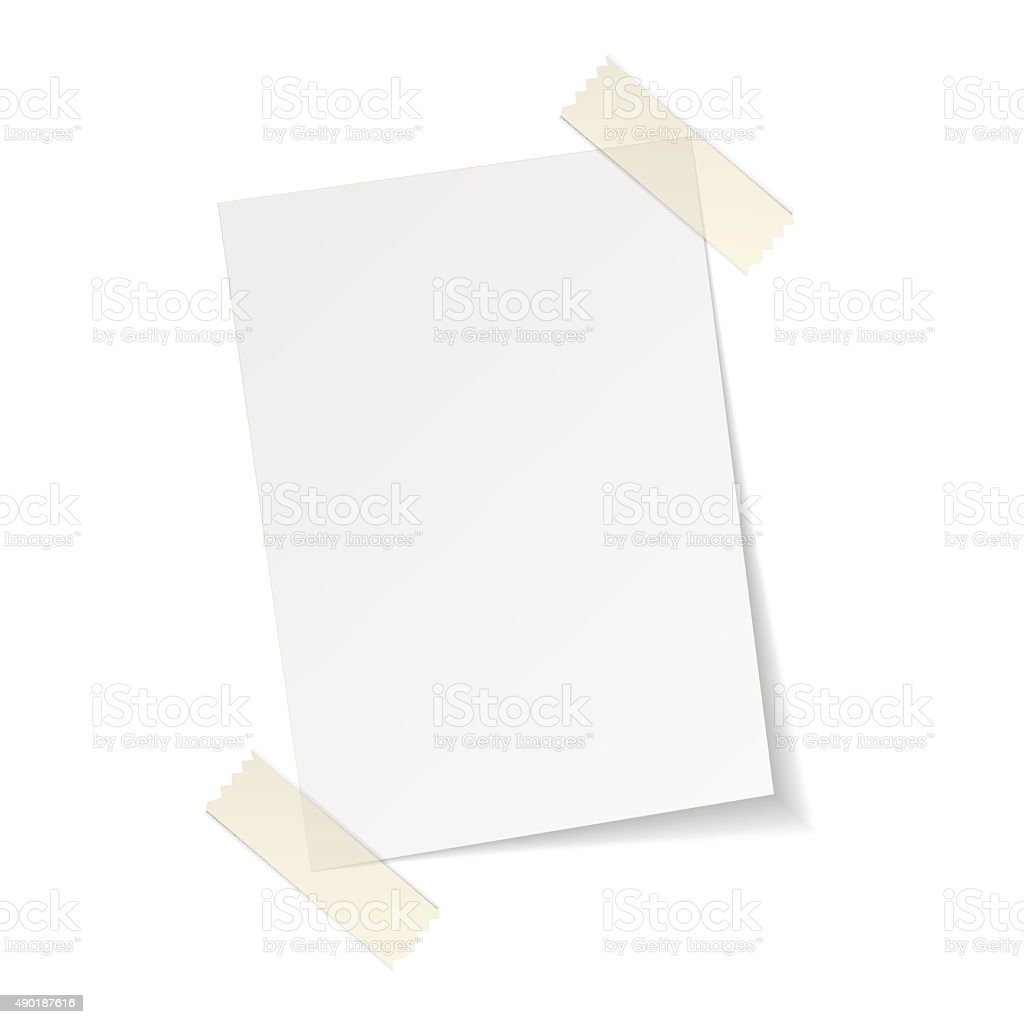 blank paper, vector illustration vector art illustration