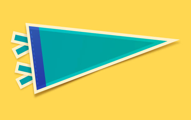 Blank Pennant Blank sports or school or celebration pennant with copy space. pennant stock illustrations
