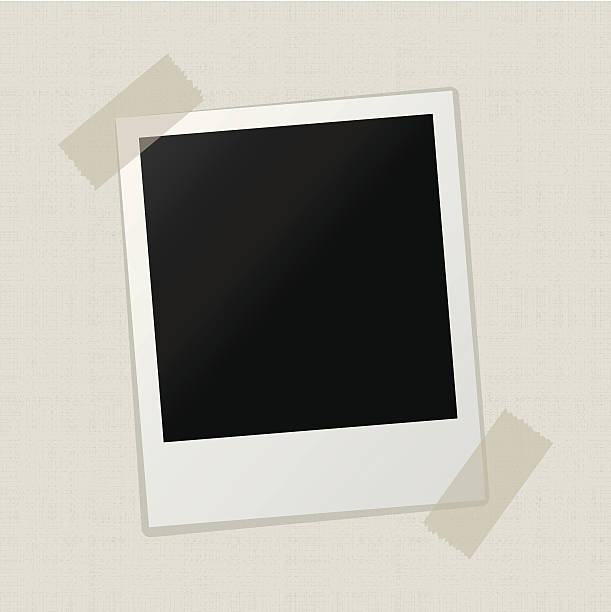blank photo 0n canvas texture background blank photo 0n canvas texture background polaroid frame stock illustrations