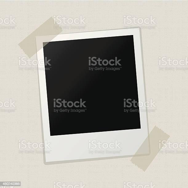Leere Foto 0n Leinwand Textur Hintergrund Stock Vektor Art und mehr Bilder von Alt