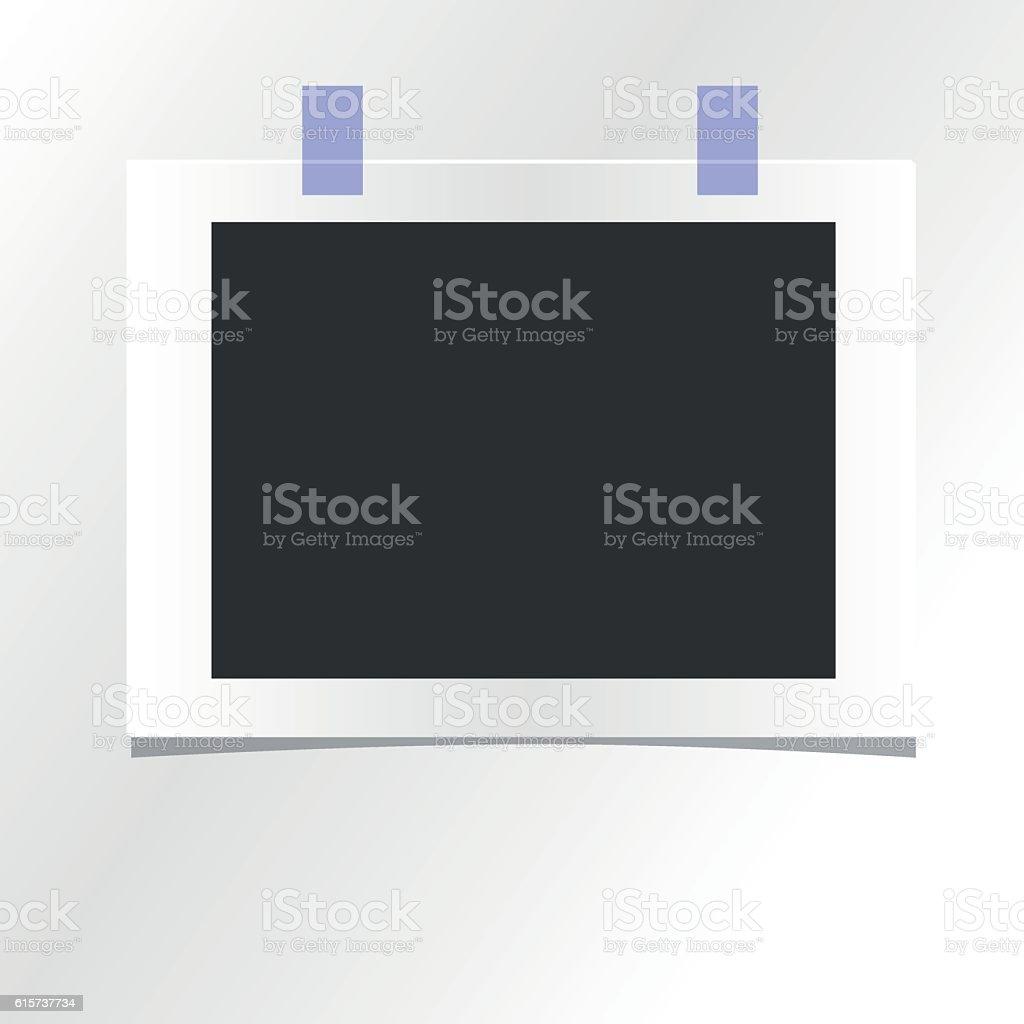 Blank Photo Frame Template Design Vector Mockup Vecteurs Libres De