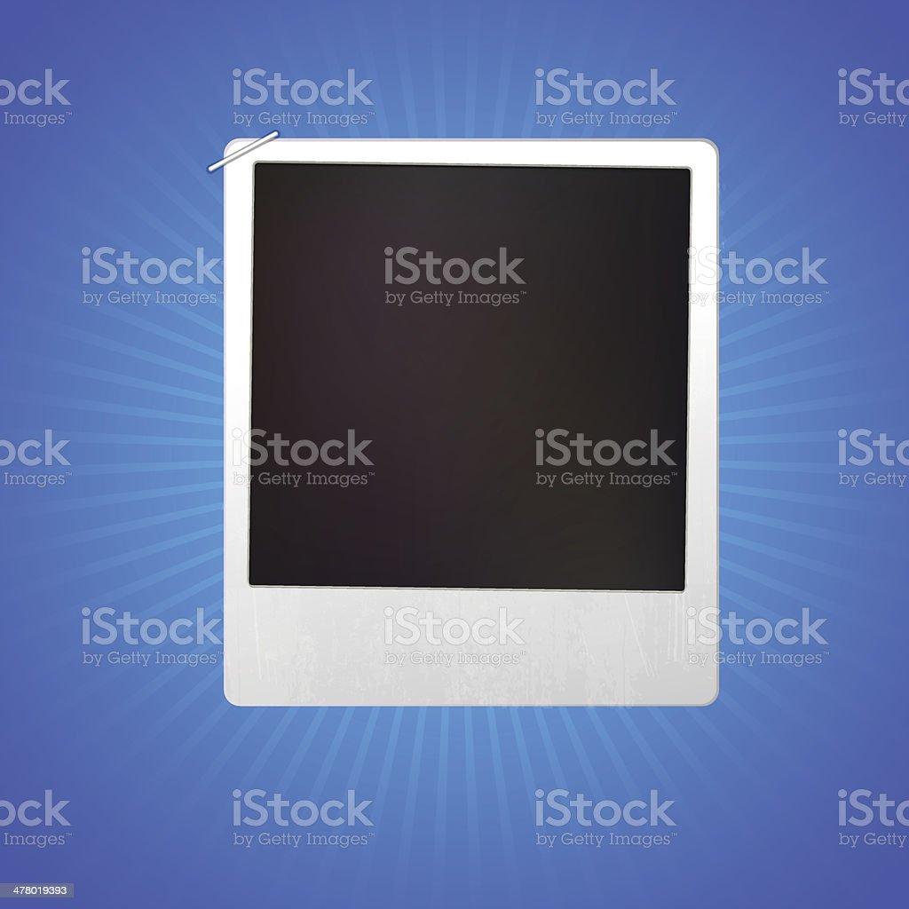 Blank Photo Frame royalty-free stock vector art