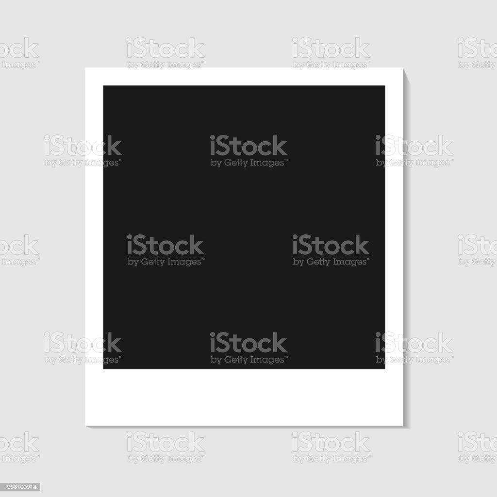 空白の写真ポラロイド フレーム白い背景影の効果あなたの写真や画像の空