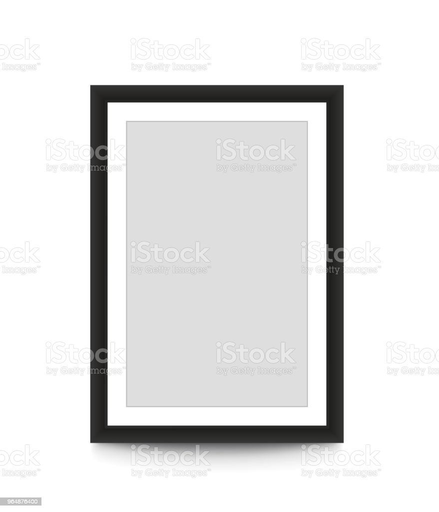 Blank picture frame for photographs. Vector illustration royalty-free blank picture frame for photographs vector illustration stock vector art & more images of black color