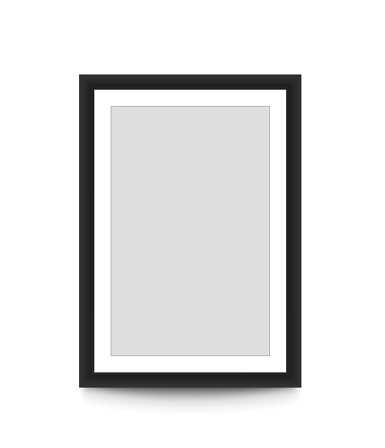 Blank Picture Frame For Photographs Vector Illustration Stock Vector Art & More Images of Black Color
