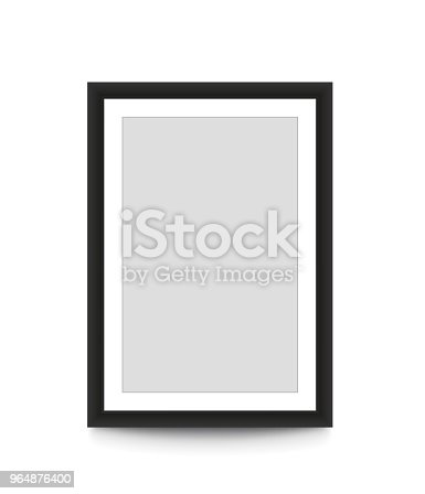 Blank Picture Frame For Photographs Vector Illustration Stock Vector Art & More Images of Black Color 964876400