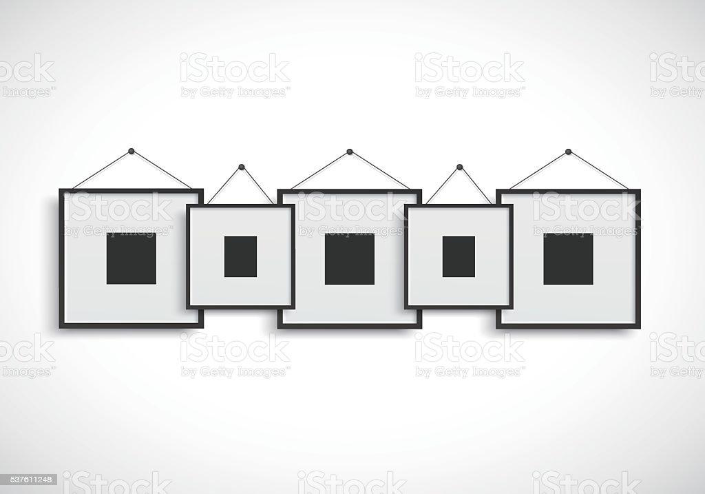 Ilustración de Cuadro En Blanco Marco Para Montaje En Pared y más ...