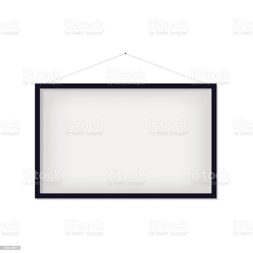 Blank picture frame isolated vector art illustration