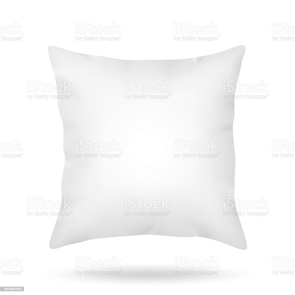 Blank pillow isolated on white background royalty-free blank pillow isolated on white background stock illustration - download image now