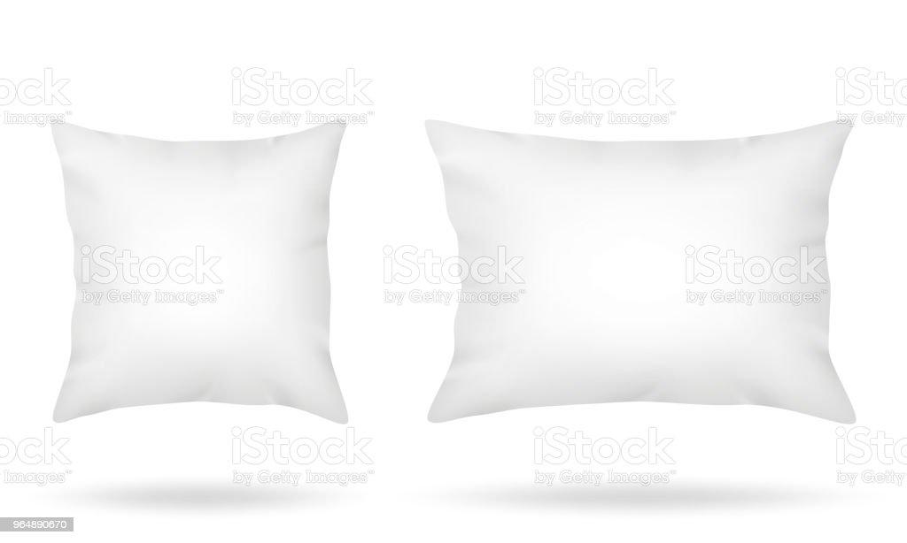 空白枕頭在白色背景下被隔絕 - 免版稅乾淨圖庫向量圖形