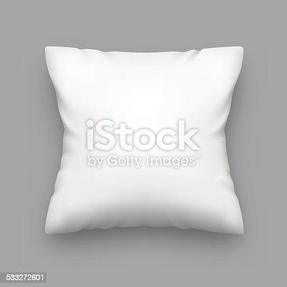 Vector white pillow. Blank pillow. Vector illustration EPS10.