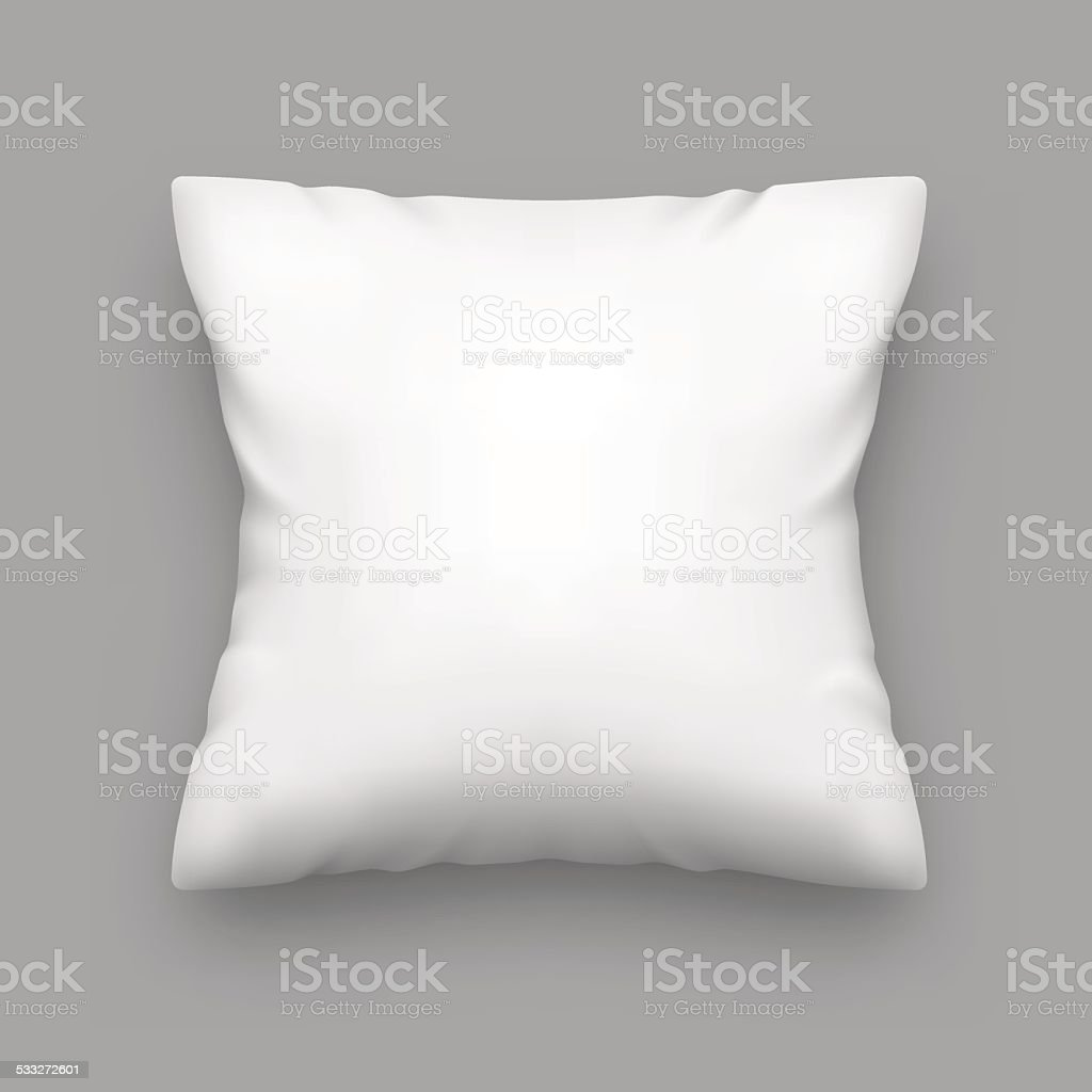 Blank Pillow vector art illustration