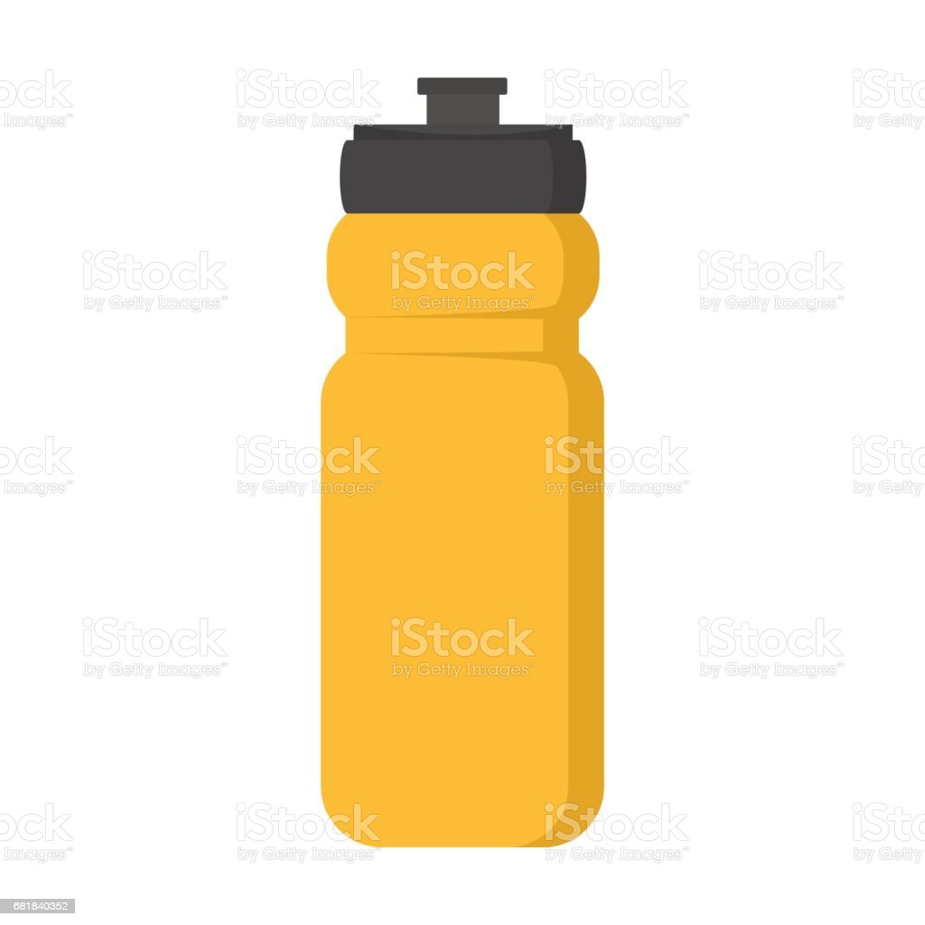 Blank plastic bottle for water vector illustration vector art illustration