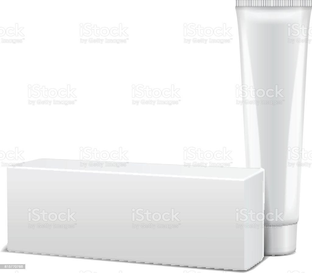 Leere Kunststoffrohr Mit Whitebox Für Medizin Oder Kosmetik Creme ...