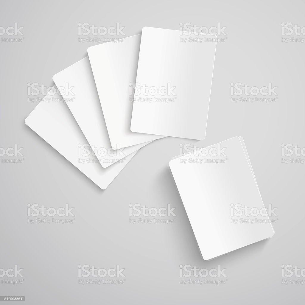 Em branco cartões de jogo - ilustração de arte em vetor