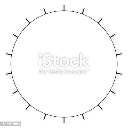 Blank Polar Graph Paper Protractor Pie Chart Vector Stock Vector Art