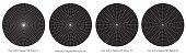 Blank Polar Grid In Degrees vector - protractor - Pie Chart vector
