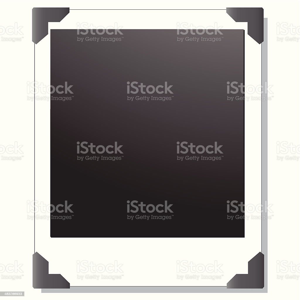 Leere Polaroidfotorahmen Stock Vektor Art und mehr Bilder von Anhöhe ...