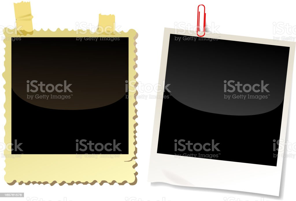 blank polaroid royalty-free stock vector art