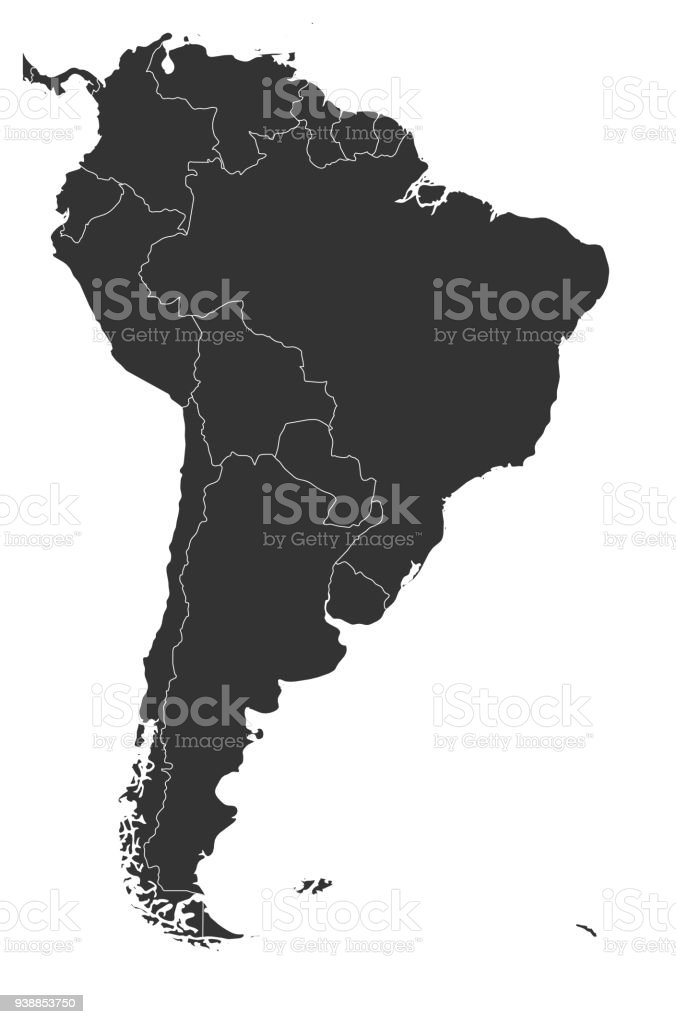 Blank political map of south america simple flat vector map in grey blank political map of south america simple flat vector map in grey royalty free gumiabroncs Image collections