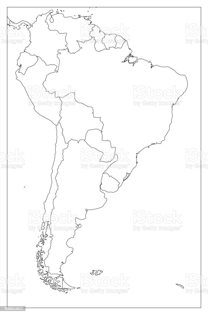 Blank Political Map Of South America Simple Flat Vector ... on blank continent map america, blank outline map america, blank canada map, blank us map, empty map of america, political map of america, green map of america, blank map finland, blank map iceland, california map of america, blank central america map, blank map united states, plain map of america, map of 13 colonies america, states of america, blank latin america, before the civil war map of america, north america, simple map of america,