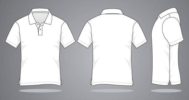 stockillustraties, clipart, cartoons en iconen met lege poloshirt voor sjabloon - hemden en shirts