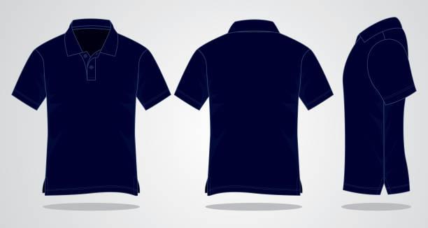 範本空白 polo 衫 - 海軍藍 幅插畫檔、美工圖案、卡通及圖標