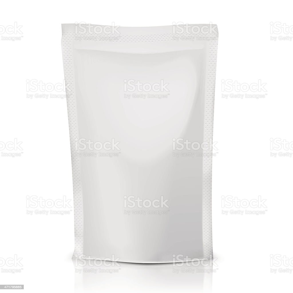 Blank polythene bag package. vector art illustration