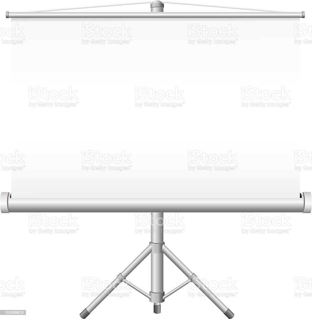 blank portable projection screen vector illustration vector art illustration