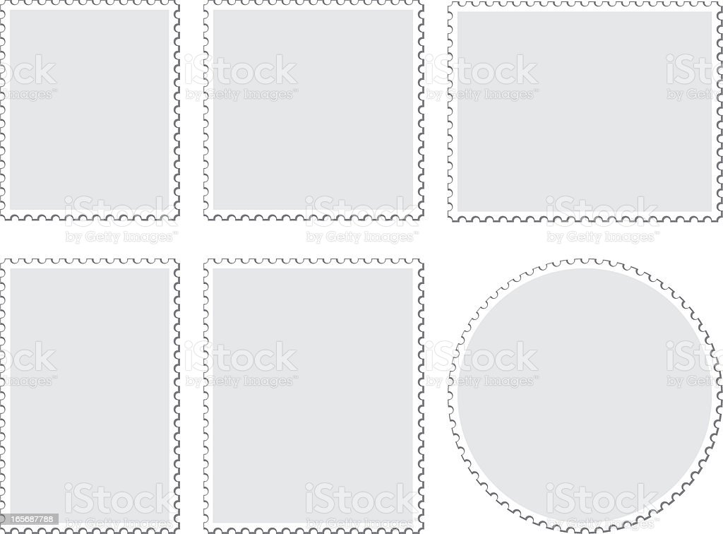 Blank Postage Stamps vector art illustration