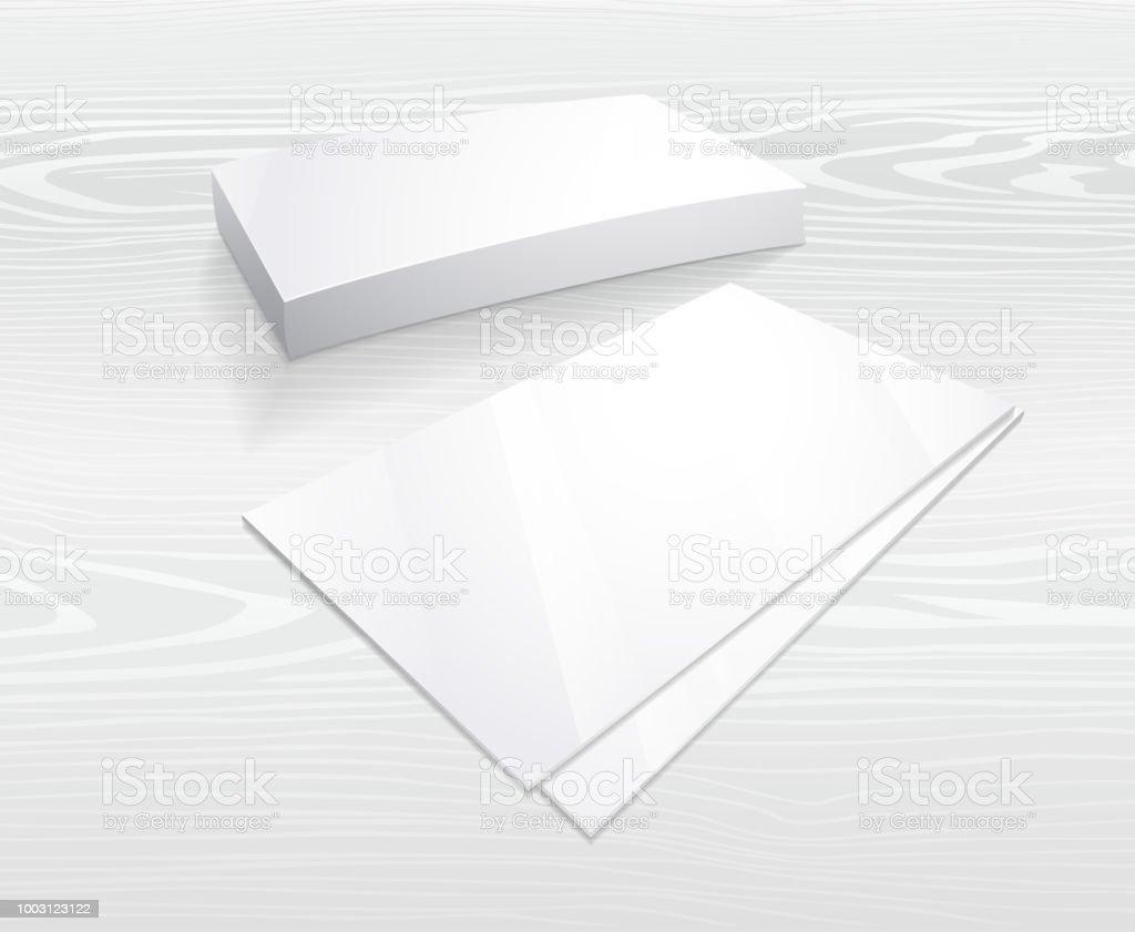Blank Postcard Template Vector Mockup Design Stock
