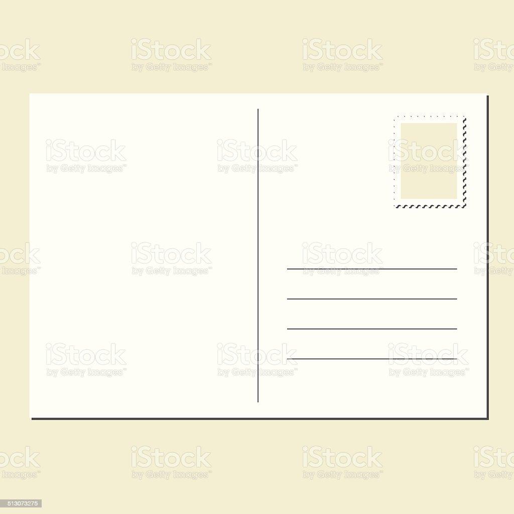 Leere Postkarte Stock Vektor Art und mehr Bilder von Abschicken ...