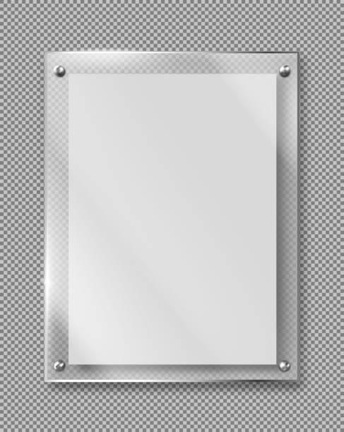 Leere Plakat, Banner Glasrahmen realistischen Vektor – Vektorgrafik