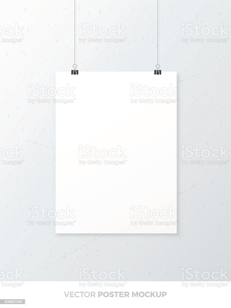 Blank Poster Mockup vector art illustration