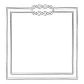 Blank poster template with nautical border