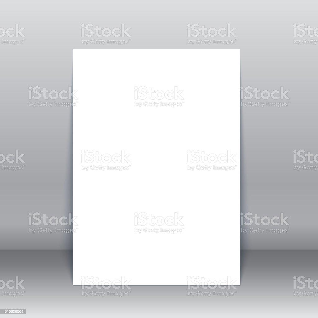 Blank poster vector Mock-Up vector art illustration