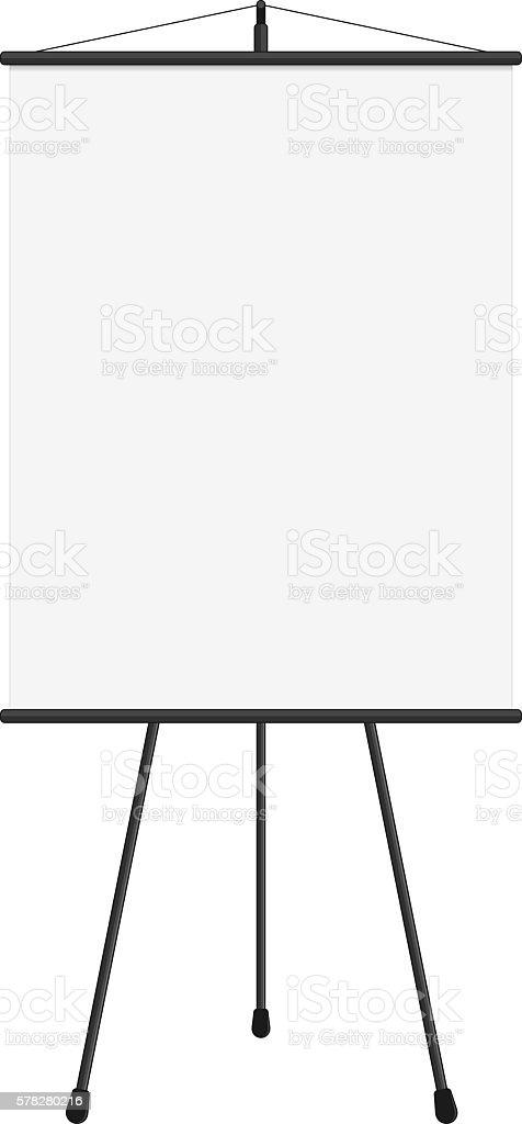 Blank presentation screen vector art illustration