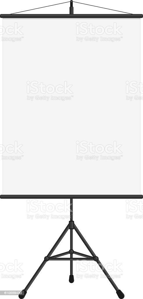 Blank presentation screen. vector art illustration