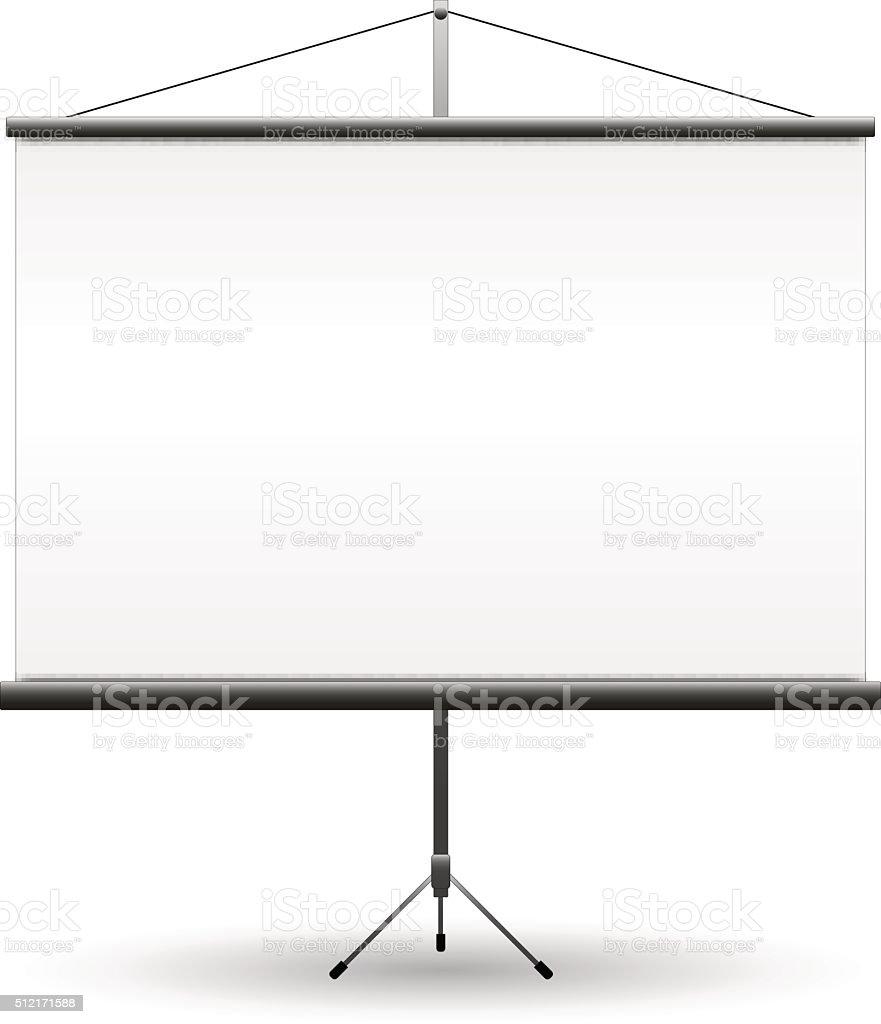 Blank Projection screen, vector vector art illustration