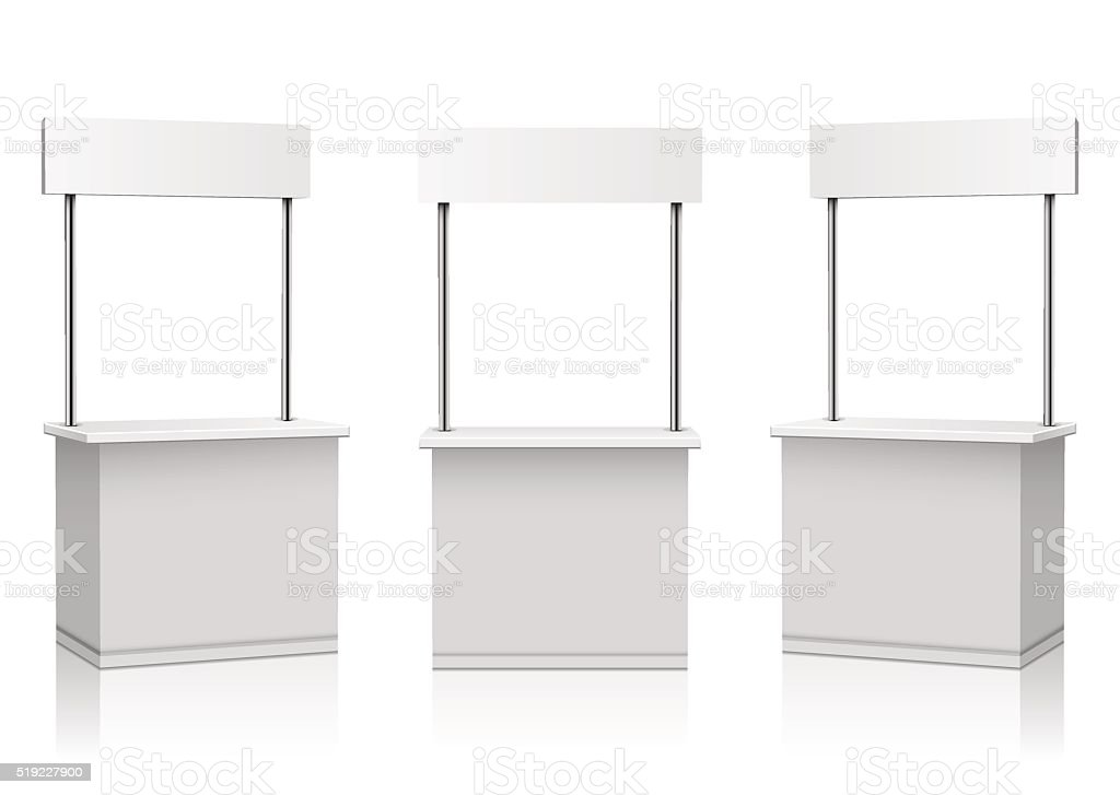 Blank Promotion Stands on a white background vector art illustration
