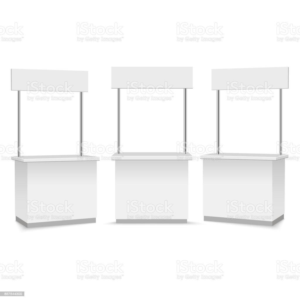 Blank Promotion Stands on a white background. Vector illustration vector art illustration