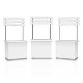 Blank Promotion Stands on a white background. Vector