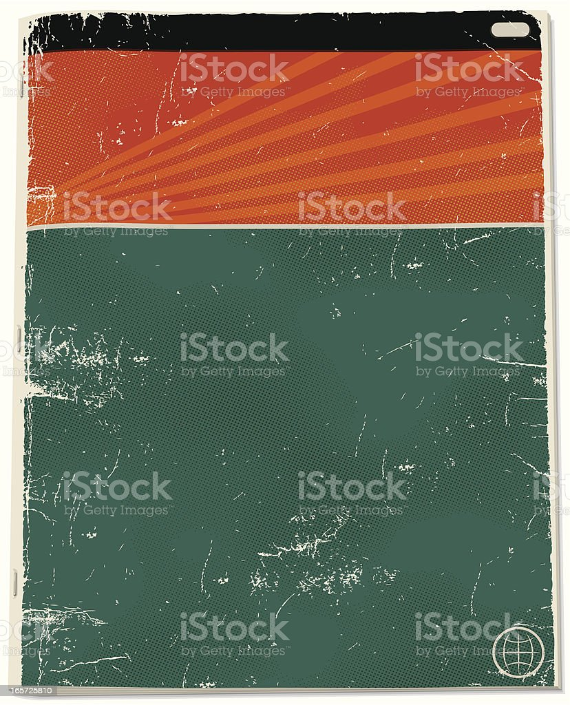 Blank Pulp Novel Cover royalty-free stock vector art