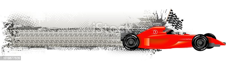 drawing of vector blank racing banner.This file was recorded with adobe illustrator cs4 transparent.EPS10 format.