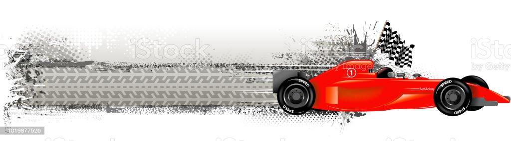 blank racing banner vector art illustration